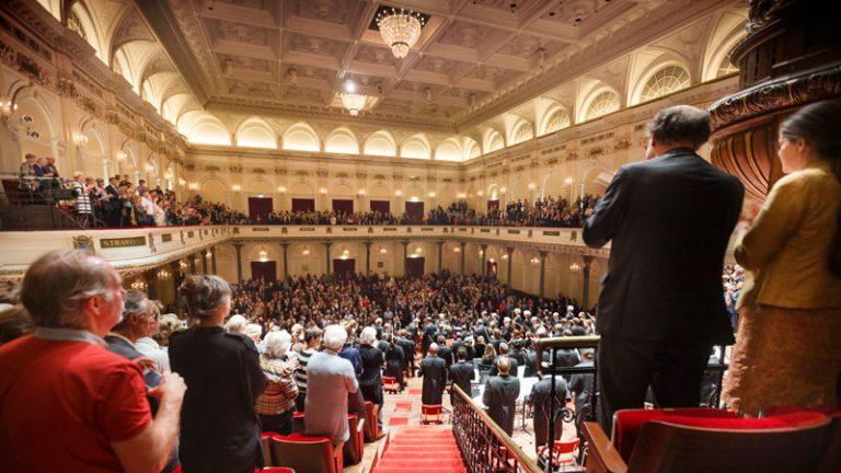 View of the big hall in The Concertgebouw